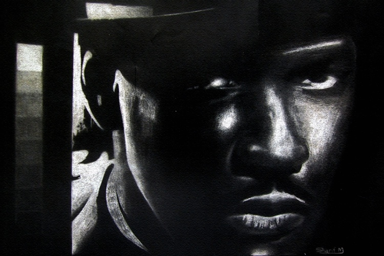 Denzel drawing by Sharif Mohammadi